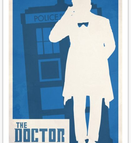 Matt Smith Doctor who  Sticker