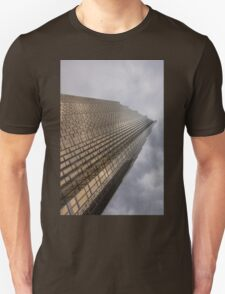 Gold and Gray - a Vertical View Unisex T-Shirt