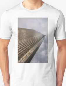Gold and Gray - a Vertical View T-Shirt