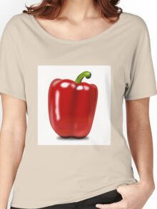 Eat food fruit pepper pimiento vegetables Women's Relaxed Fit T-Shirt