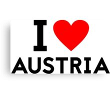 i love austria Canvas Print