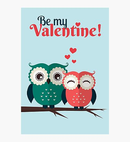 Lovers owls Photographic Print