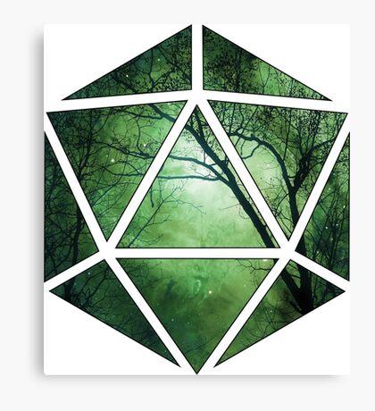 d20 forest - green Canvas Print