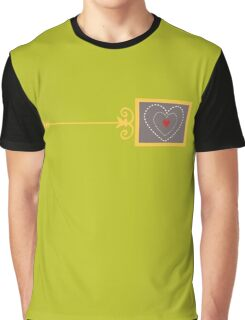 Grinch Heart in Green Graphic T-Shirt