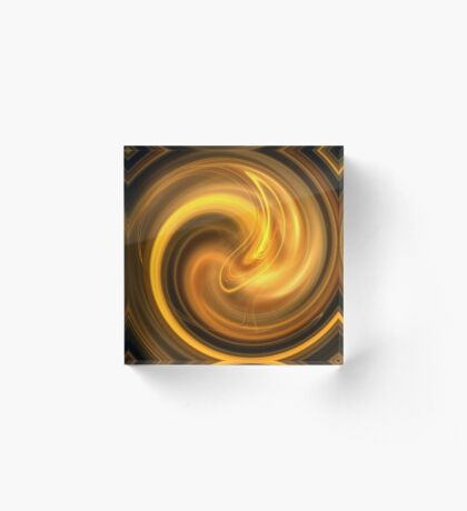 Warm Autumn Swirl Acrylic Block