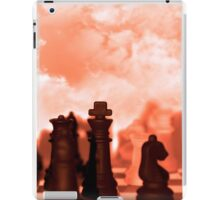 chess pieces isolated against red sky iPad Case/Skin