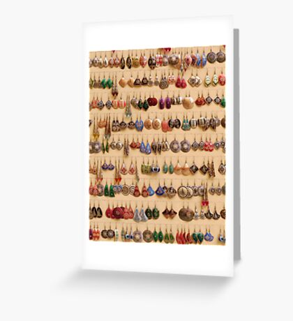 Many little ear rings - spoilt for choice! Greeting Card
