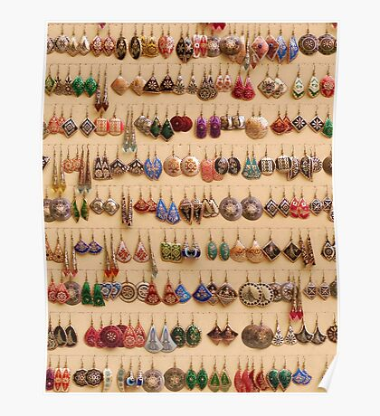 Many little ear rings - spoilt for choice! Poster