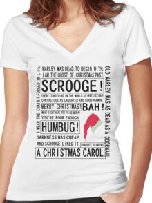 Scrooge Women's Fitted V-Neck T-Shirt