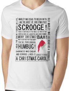 Scrooge Mens V-Neck T-Shirt