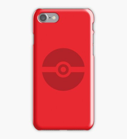 Pokeball Red Background iPhone Case/Skin