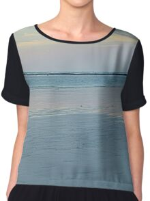 cable beach reef sunset  Chiffon Top