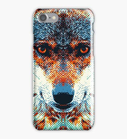 Wolf - Colorful Animals iPhone Case/Skin