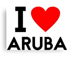 i love Aruba Canvas Print