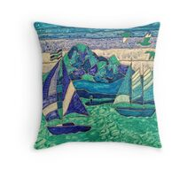 SAIL BOATS SAILING OCEAN, GOT WIND? FUNNY QUOTE  Throw Pillow
