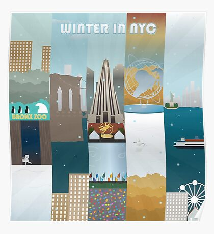 Winter in New York City Poster