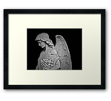 Black and White Angel Framed Print