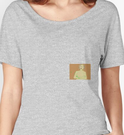 Girl Arms Folded (Mickeys Art And Design) Women's Relaxed Fit T-Shirt