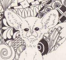 Vulpes Zerda in Zen Sticker