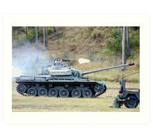 Centurion Tank firing .50 caliber machine gun Art Print