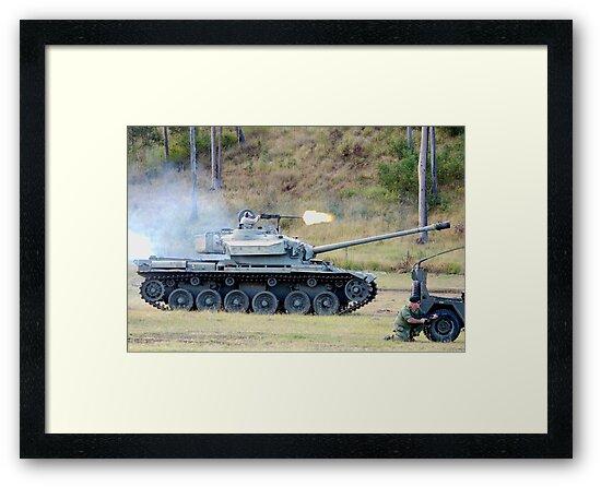 Centurion Tank firing .50 caliber machine gun by Craig Stronner