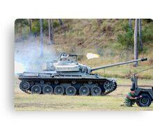 Centurion Tank firing .50 caliber machine gun Canvas Print