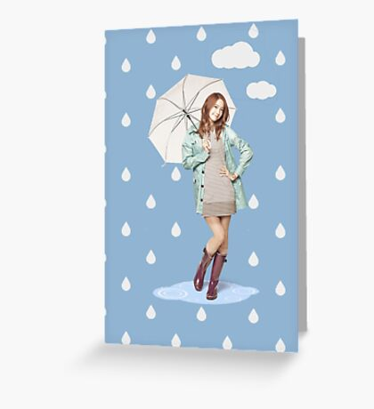 SNSD Yoona umbrella Greeting Card