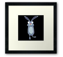 funny rabbit Framed Print