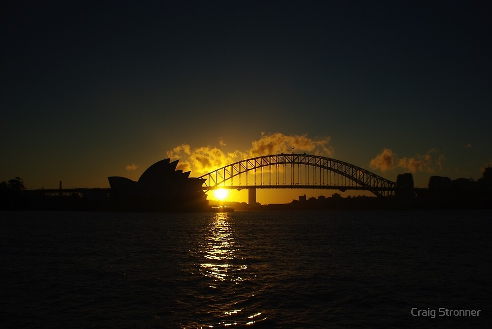 Sydney Opera House and Harbour Bridge at Dusk by Craig Stronner