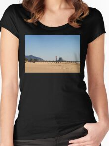 Power Station Beach Women's Fitted Scoop T-Shirt