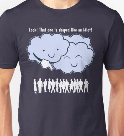 Cloud Mocks Human Shapes Funny Cartoon Unisex T-Shirt