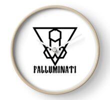 Falluminati Black Onix by Umberto Lizard Clock