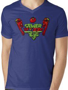 Sewer Pizza Dudez Mens V-Neck T-Shirt