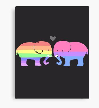 TJLC Elephants (no text ver.) Canvas Print