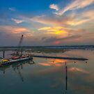 Lymington River Sunset by manateevoyager