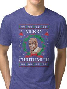 Mike Tyson - Merry Christmas Tri-blend T-Shirt
