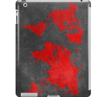 World map black and red iPad Case/Skin