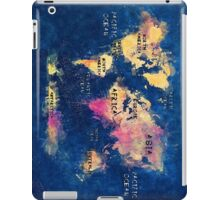 world map oceans and continents iPad Case/Skin
