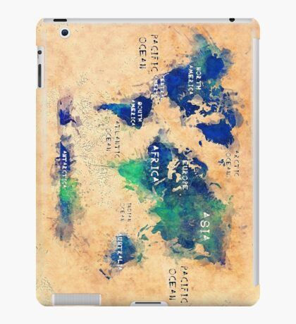 world map oceans and continents 2 iPad Case/Skin
