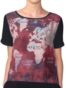 world map 16 Chiffon Top