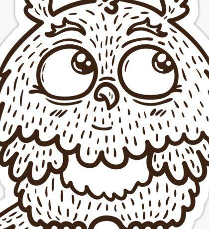 Baby owl. Sticker