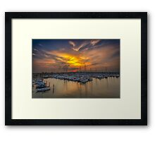 Lymington Yacht Haven Sunset Framed Print