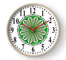 Harmonious Two Tone Green Flowers Clock