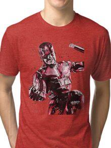 Daredevil Ink Splatter Tri-blend T-Shirt