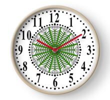 Harmonious Two Tone Gray Flowers Clock
