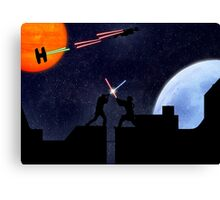 Lightsaber fight Canvas Print