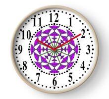 Harmonious Two Tone Lavender Flowers Clock