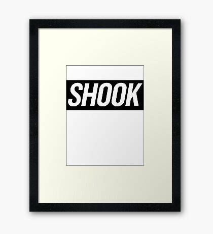 Shook 3 Framed Print