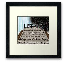Let Go! Framed Print