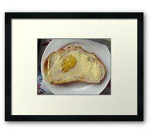 Oz shaped toast Framed Print